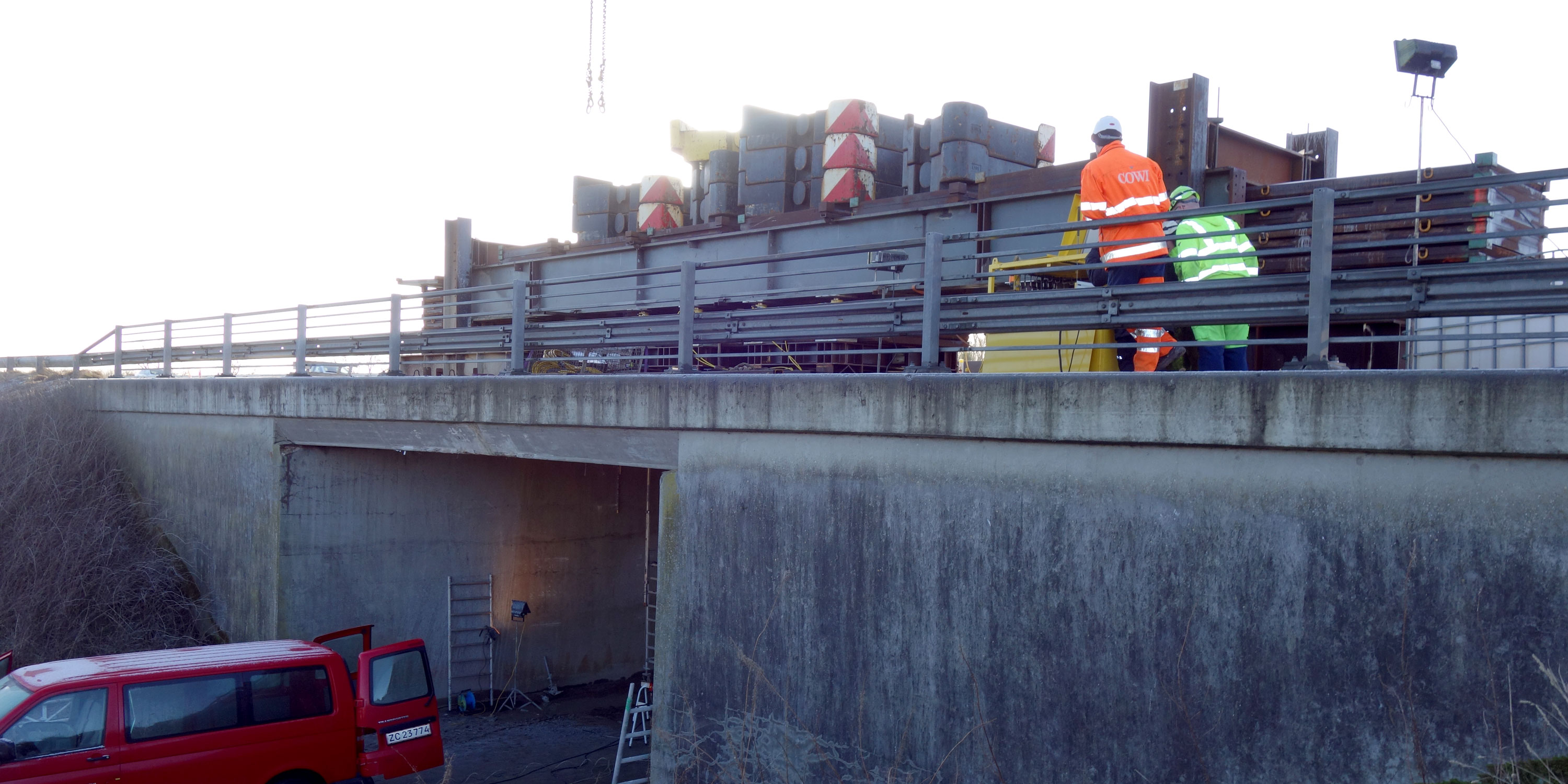 Amazing A Road Bridge Subjected To A Very Specific Load On A Special Loading Rig,  Developed