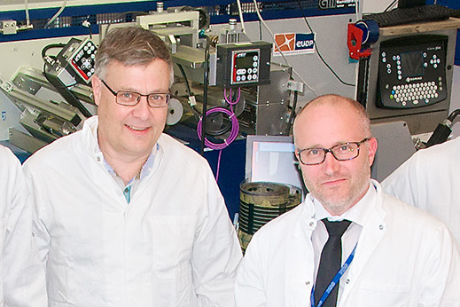 Seniorresearcher Mikkel Jørgensen and professor Frederik C. Krebs