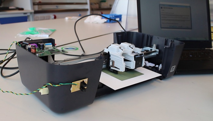 Inkjet printer modified to print SOFC