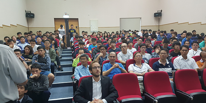 Picture from a lecture in Taiwan