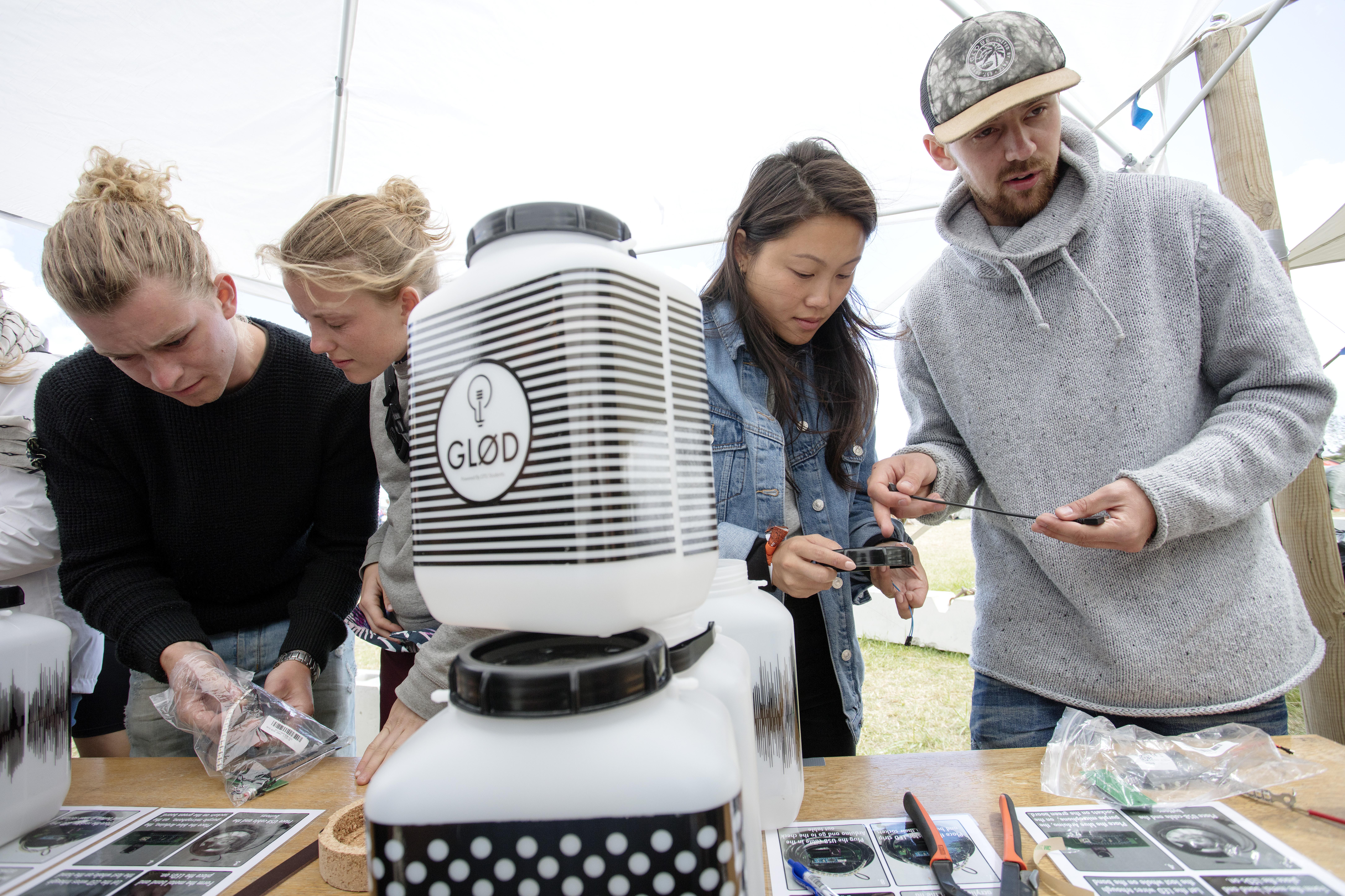 Roskilde Led Lampe Lyser Op I Lejrene Dtu