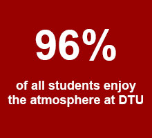 96 % of all students enjoy the atmosphere at DTU