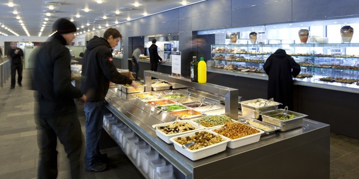 Student Canteen in Building 101 on Lyngby Campus. Photo: DTU