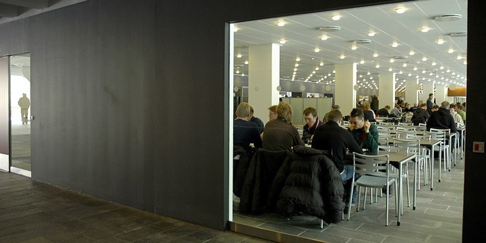 Student Canteen in Building 101 on Lyngby Campus. Photo: Ehrhorn & Hummerston