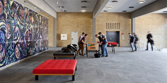Art and foosball on Lyngby Campus. Photo: Stamers Kontor