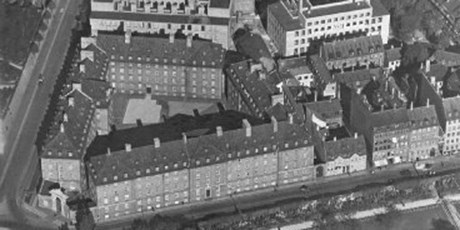 Aerial photo of the buildings in Øster Voldgade.