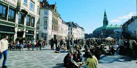 Strøget is one of Europe's longest pedestrian streets