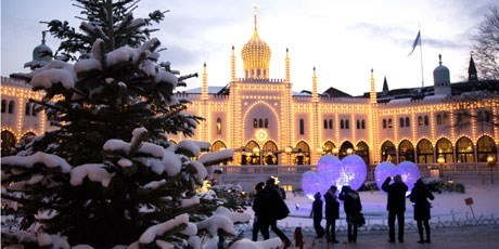 Christmas in the famous amusement park Tivoli Gardens