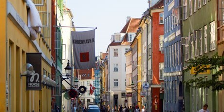The old Latin Quarter in Copenhagen.