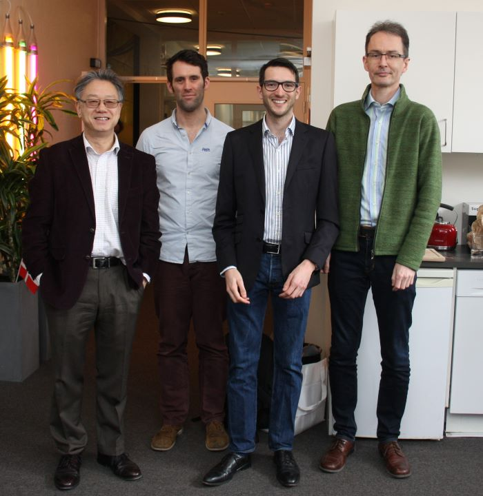 l-r: Professor Ning Xiang, Rensselaer Polytechnic Institute, USA, Lecturer Jonathan Hargreaves, University of Salford, UK, Antoine Richard & Associate Professor Finn T. Agerkvist, DTU Elektro