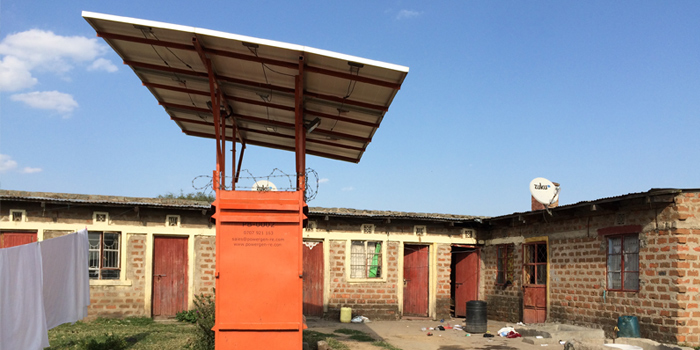In Kenya, citizens without access to the central power grid can still get power from small solar cell systems. Photo: Mathilde Brix Pedersen.