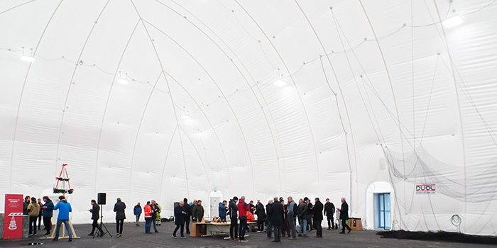 Topping-out ceremony at Autonomous Systems Test Arena - ASTA, DTU (Photo: Ole Ravn)