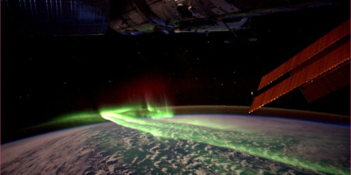 Northern Lights photographed from the international space station ISS (Photo: ESA)