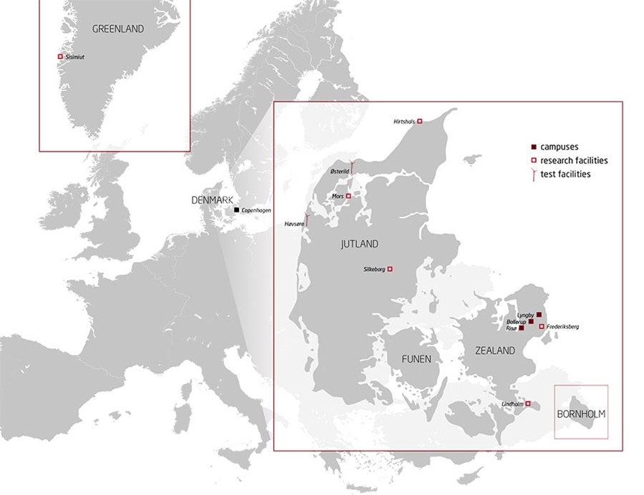 Karta Danmark Hirtshals.Map Of Locations Dtu
