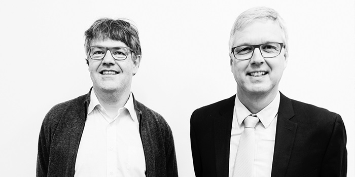 Erik Vilain Thomas (left) og Jørgen Arendt Jensen (right). Photo: Innovation Fund Denmark