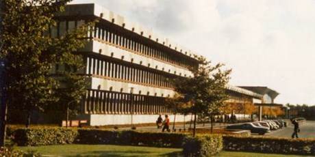 Main building, 101, from the mid 1970s, when the university moved to the new buildings in Lyngby.