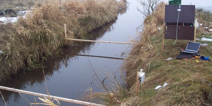 Antennas that detect pittagged fish migrating between lake and stream. Photo Jes Dolby